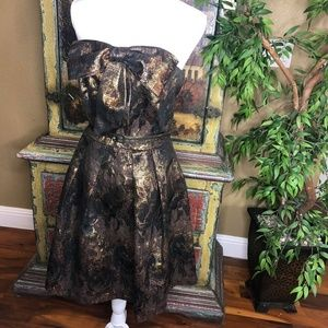 Anthropologie Eva Franco Samhain Metallic Dress 10